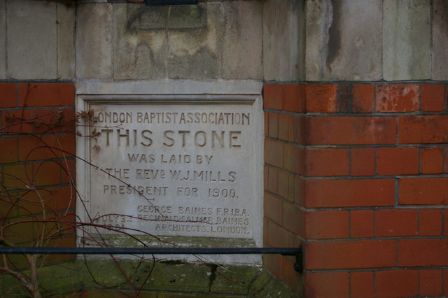 Foundation stone, Muswell Hill Baptist Church