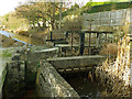 NZ8809 : The old corn mill, Ruswarp - penstock by Stephen Craven