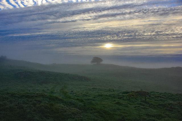 Sunrise over The Knotts