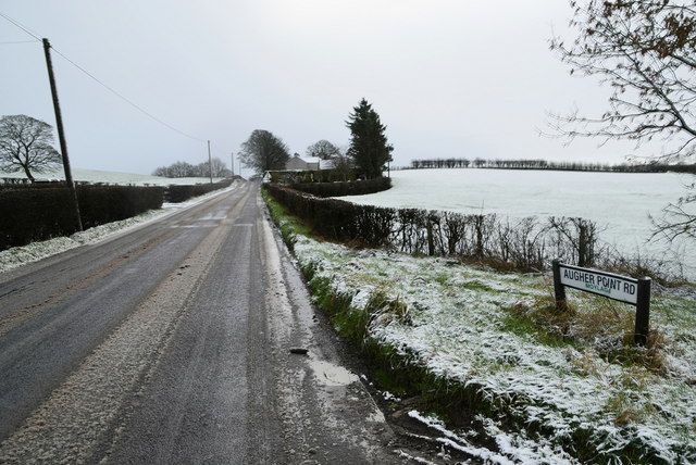 Wintry along Augher Point Road