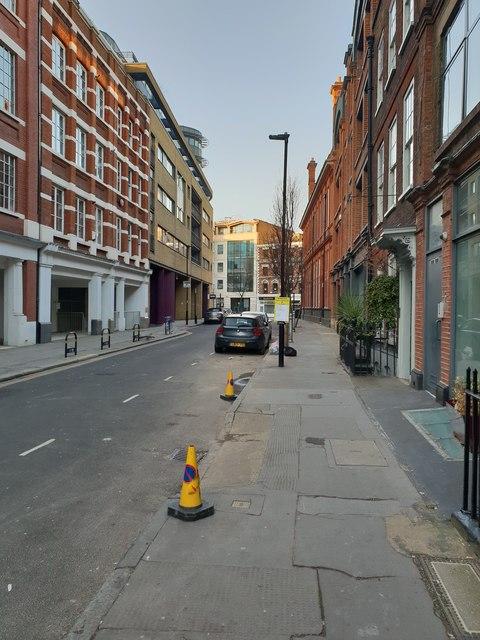 Britton Street in Clerkenwell, looking north