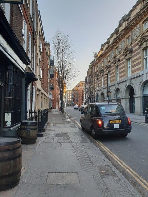 Britton Street, Clerkenwell, looking south