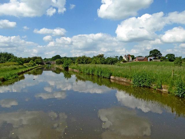 Canal and farmland north-west of Gnosall Heath, Staffordshire