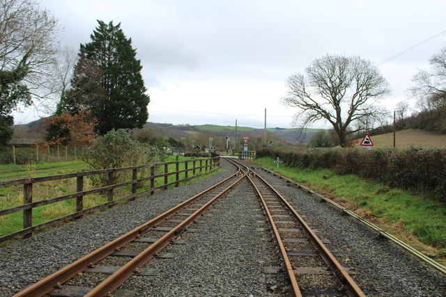Track from Capel Bangor viewed ESE
