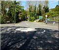 SS7799 : Shadows on a mini-roundabout, Tonna by Jaggery