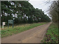 TF7806 : Bridleway to Cockleycley Wood by Hugh Venables