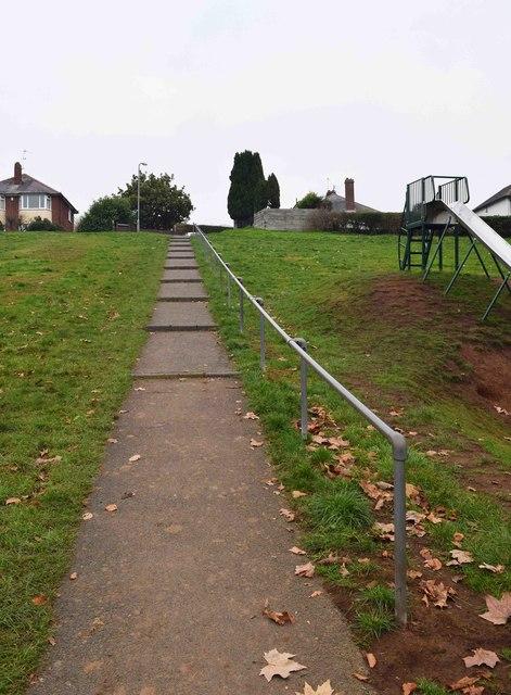 Steps to Olive Grove from Stourport War Memorial Park, Stourport-on-Severn
