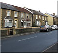 ST1788 : Stone semis, Newport Road, Bedwas by Jaggery