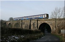 NS5160 : Train crossing the Salterland Viaduct by Richard Sutcliffe