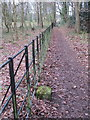 SJ2485 : Footpath on Thurstaston Common and an NT boundary stone (2) by John S Turner