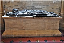 ST6316 : Sherborne Abbey: Early to mid c13th memorial to a priest 1 by Michael Garlick