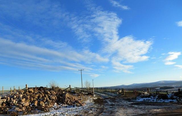 Access to fields SE of Wartle Farm