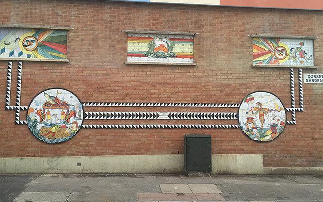 Tile Murals Art at Dorset Gardens, Brighton