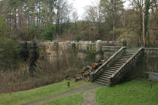 Steps beside Overtoun Bridge