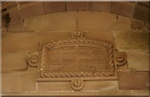 NS4276 : Carved panel, Overtoun House by Richard Sutcliffe