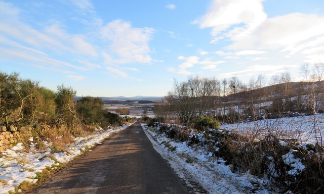 Minor road between Wartle and Loanhead