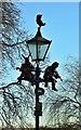 SP2054 : Sculptured lamppost by Ann