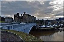SH7877 : Across Conwy bridge to the Castle. by steven ruffles