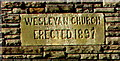 ST1788 : Wesleyan Church erected 1897, Bedwas by Jaggery