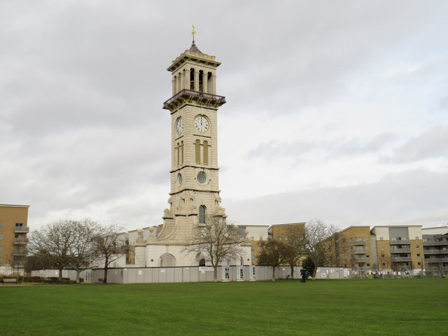 Clock tower in Caledonian Park, near Holloway