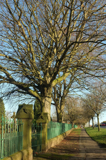 Churchyard wall and railings, Otley Road