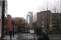 TQ3279 : View of the block of flats on Long Lane from the King's College Guy's Campus by Robert Lamb