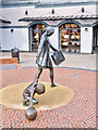 SJ4174 : Mother and Child Sculpture, Cheshire Oaks by David Dixon