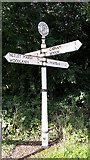 SU3012 : Old Direction Sign - Signpost, Bartley by Milestone Society