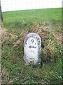 SN7081 : Old Milestone by the A44, Coed Nantyrarian by Milestone Society