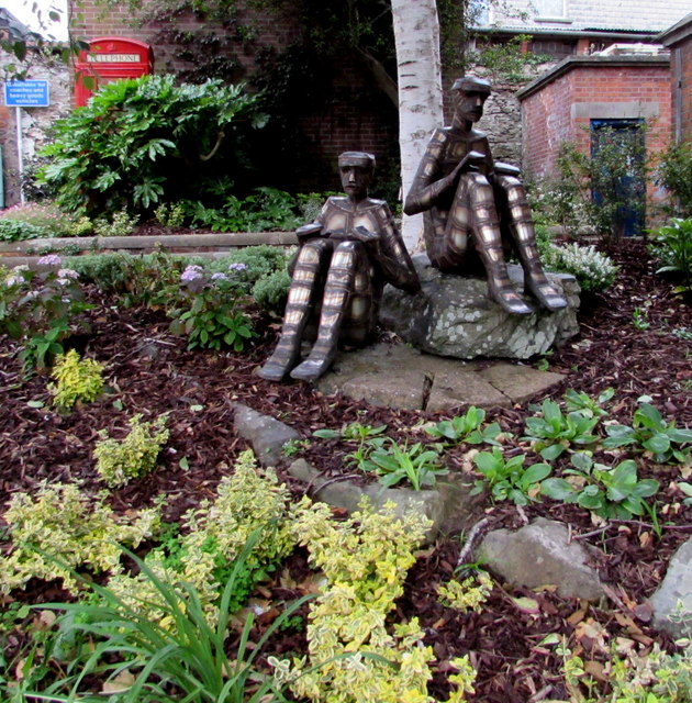 Public artwork on an Ilfracombe corner