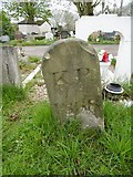 TQ2282 : Old Boundary Marker in Kensal Green Cemetery by Milestone Society