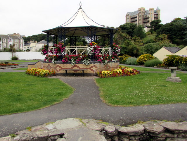 East side of the bandstand in Jubilee Gardens, Ilfracombe