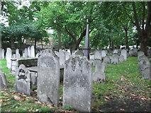 TQ3282 : Gravestones at Bunhill Fields by Eirian Evans