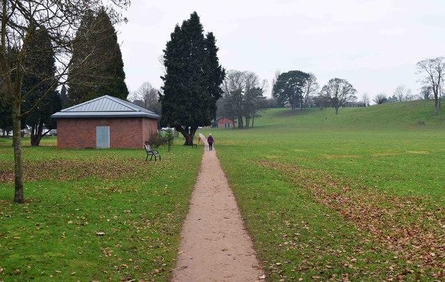Footpath in Stourport War Memorial Park, Stourport-on-Severn