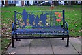 SO8071 : Seat in Stourport War Memorial Park (1), Stourport-on-Severn by P L Chadwick