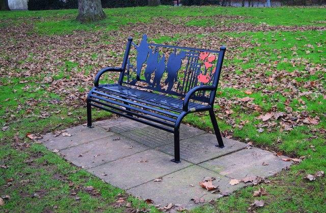 Seat in Stourport War Memorial Park (2), Stourport-on-Severn