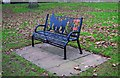 SO8071 : Seat in Stourport War Memorial Park (2), Stourport-on-Severn by P L Chadwick