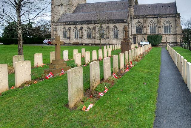 Canadian War Graves at Bodelwyddan