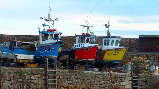 Fishing boats, Crail Harbour