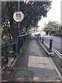 SZ0790 : Westbourne: southern parapet of Middle Chine bridge by Chris Downer