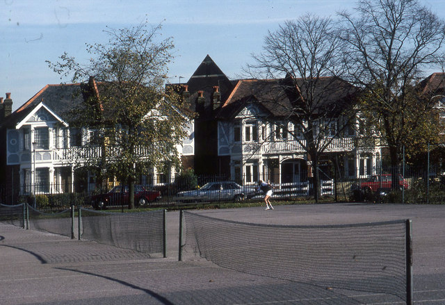 North Acton Playing Field 1980, tennis courts