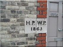TQ2282 : Old Boundary Marker by the A404, St. Mary's Terrace, Harrow Road by Milestone Society