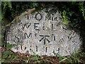 SO0453 : Old Milestone by the A483, Pencerrig East Lodge, Llanelwedd Parish by Milestone Society