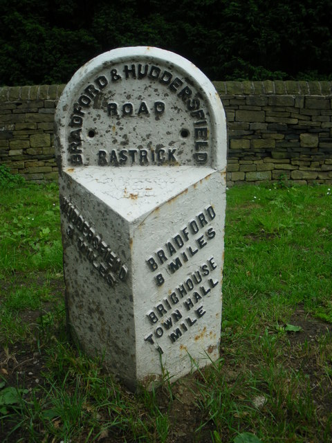Old Milestone by the A641, Huddersfield Road, Toothill