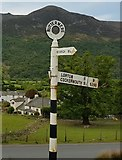 NY1717 : Old Direction Sign - Signpost by the B5289, Buttermere by Milestone Society