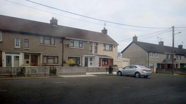 Houses in St Fursey's Terrace, Blackrock