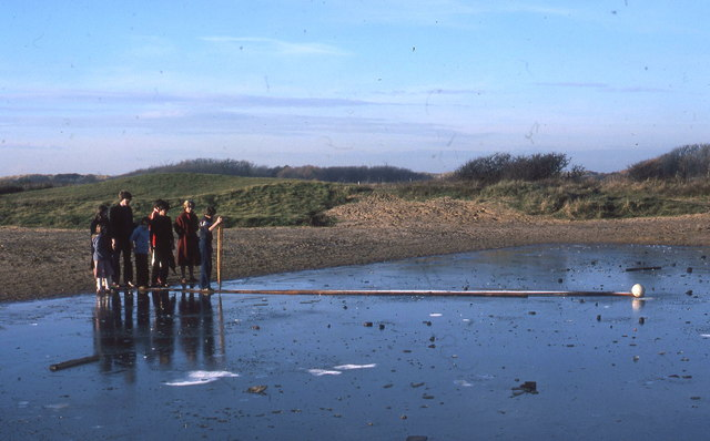 How do we get the ball off the ice? At Formby