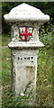 TL4300 : Old Boundary Marker by the B1393, Epping Road, Theydon Bois Parish by Milestone Society