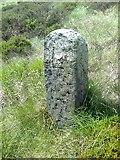 SD9620 : Old Boundary Marker on White Holme Moss, Littleborough Parish by Milestone Society