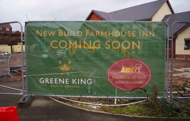 Larch Wood Farm under construction (4) - sign, Silverwoods Way, Kidderminster, Worcs
